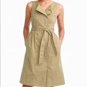 J.Crew tall garment dyed trench dress size 6